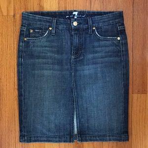 "7 For All Mankind ""A"" Pocket Denim Skirt"